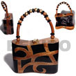 Natural Collectible Handcarved Laminated Acacia Wood Handbag /