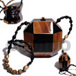 Natural Collectible Handcarved Laminated Acacia Wood Slingbag /