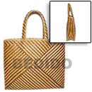 Natural Pandan Indo Stripe Bag