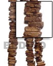 1 Inch Coco Stick Natural Brown Bead