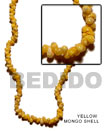 Natural Yellow Mongo Shell In Beads Strands Or
