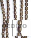 Natural Camagong Oval Woodbeads