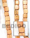 Bayong Dice Wood Beads