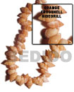 Natural Orange Frog Shell Sidedrill BFJ036SPS Shell Beads Shell Jewelry Shell Beads
