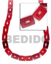 Natural Red Rectangular Beads