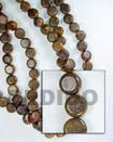 Natural Robles Sidedrill Disc Woodbeads