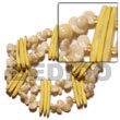 Natural Yellow Coco Stick   White BFJ5087BR Shell Beads Shell Jewelry Shell Bracelets