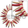 Elastic Red/nat. White Coco Indian Stick W/