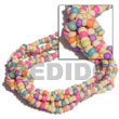 3 Rows Coco Pokalet Candy Color Bracelet