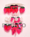 Natural Strawberry Capiz Shells Wind Chime